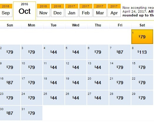 Southwest $59 Fares Atlanta-Chicago October 2016
