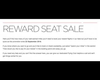 Virgin Atlantic 30 Percent off Reward Seats