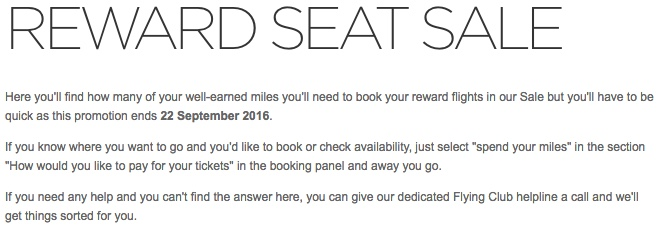Virgin Atlantic 30 Percent off Reward Seats