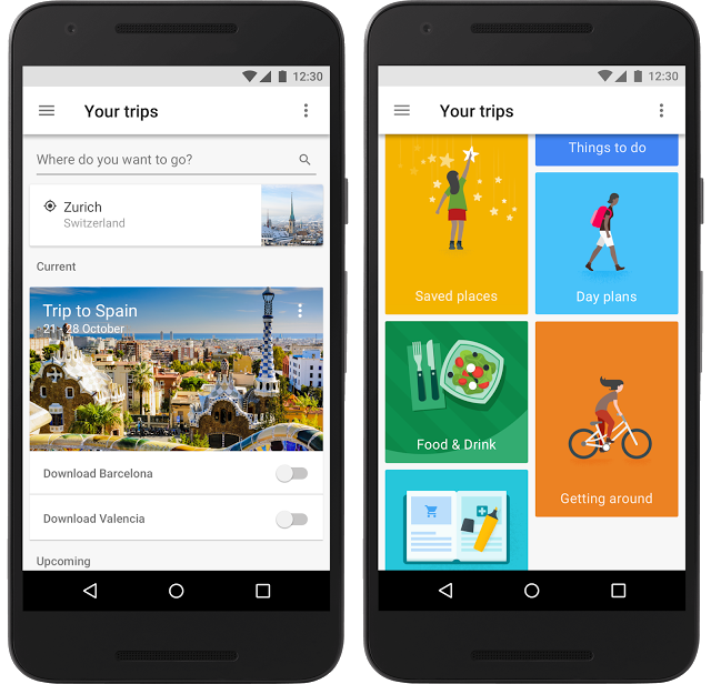 Google Trips app for iOS and Android
