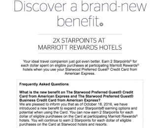 2x Points with SPG Card at Marriott