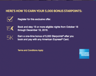 SPG 5,000 reasons to stay promo