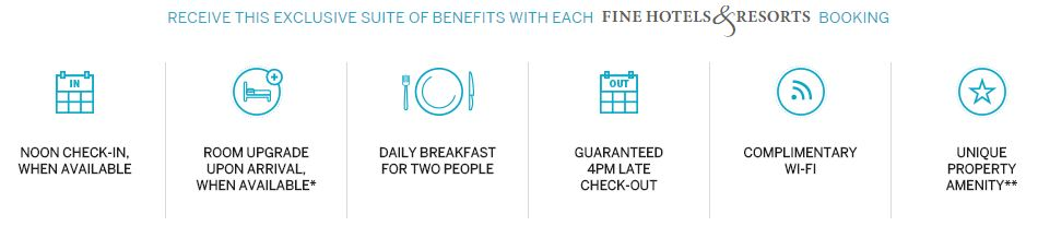 Amex Fine Hotels & Resorts Benefits