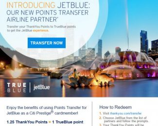 Citi JetBlue Transfer Partner Announcement