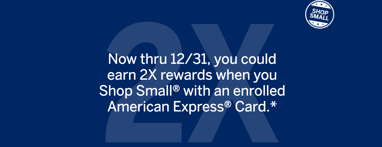 Double Amex points at small business