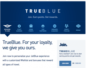 The TrueBlue Loyalty Program from JetBlue