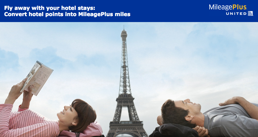 Transfer hotel points to United MileagePlus with 25% bonus miles