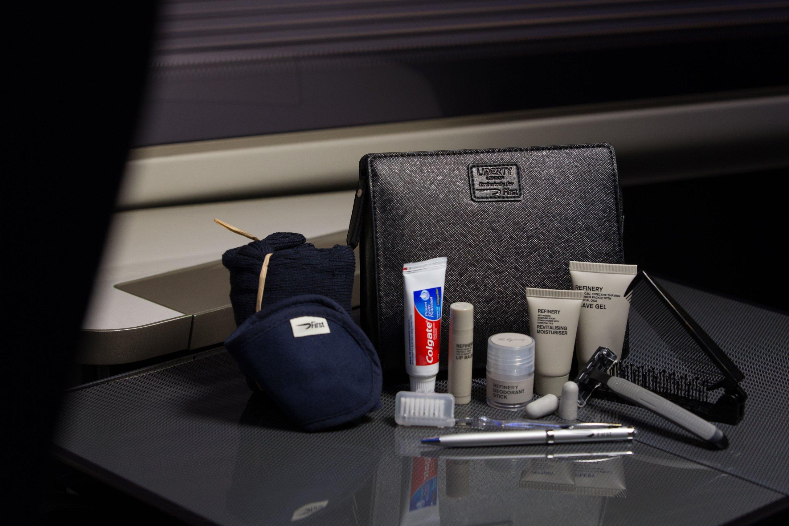 Britsh Airways Men's First Class Liberty Amenity Kit