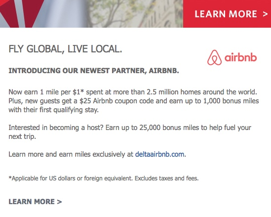 Delta and Airbnb Partnership