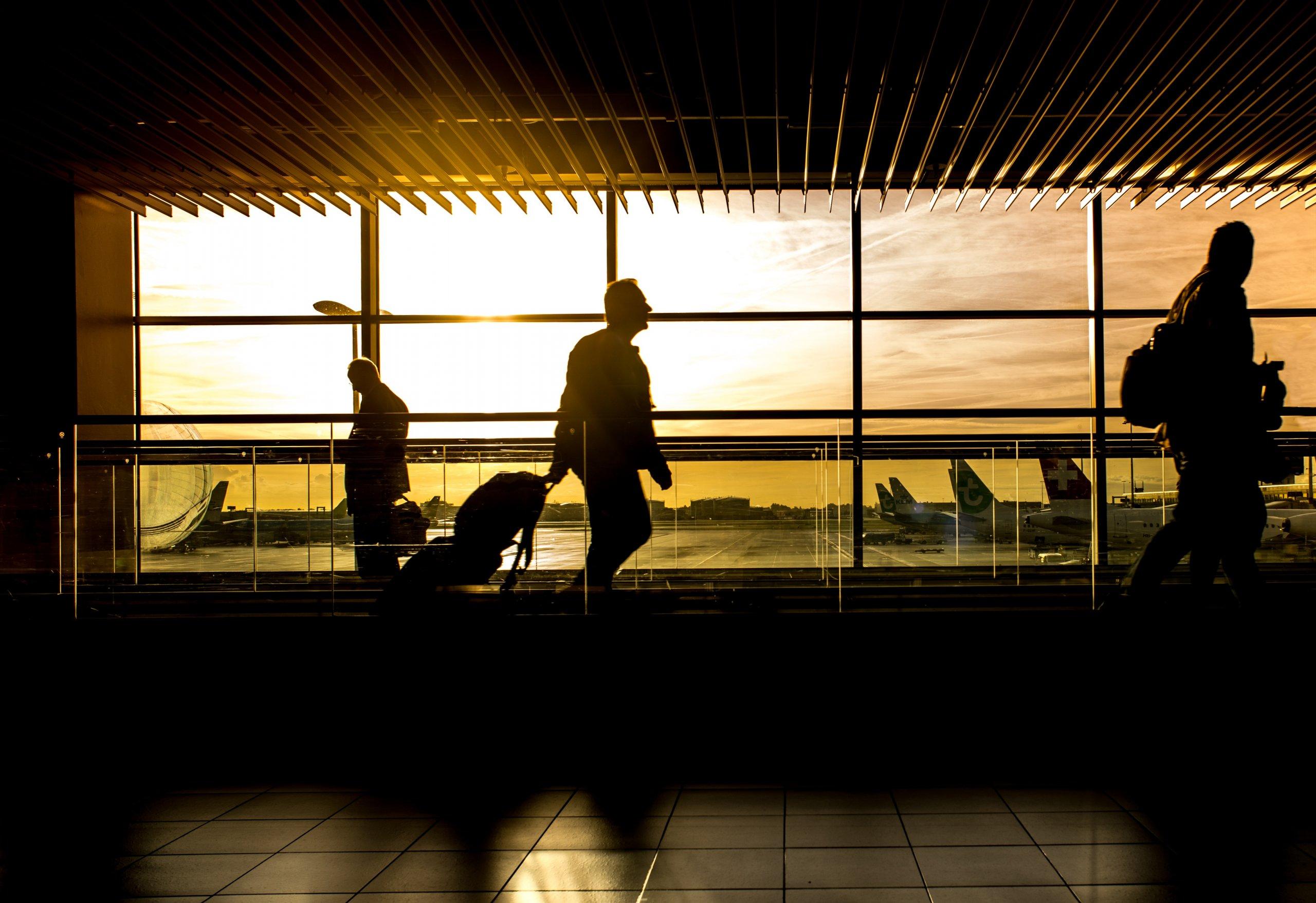 airport sunset terminal