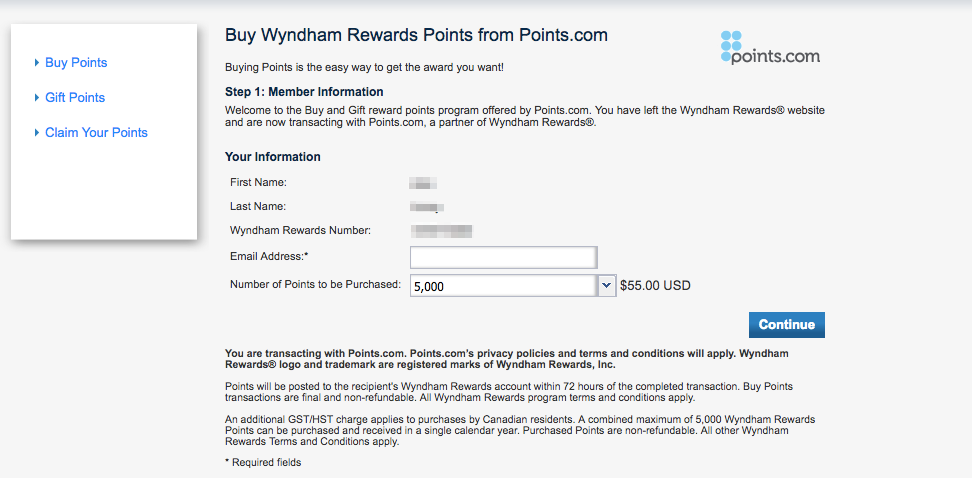 Buy Wyndham Rewards Points