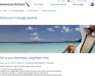 AAdvantage Reduced mileage awards