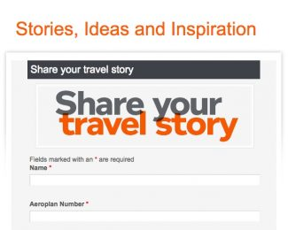 Aeroplan Share your travel story 250 bonus miles