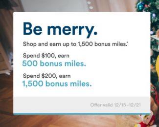 Alaska 1500 Miles Shopping Bonus