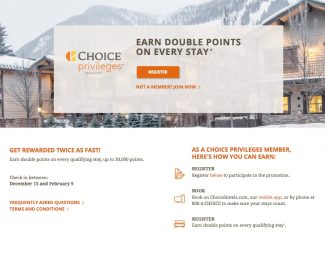 Choice Privileges Double Points Winter 2016