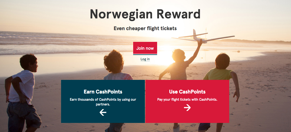 Norwegian Rewards Homepage