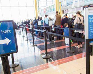 TSA Pre airport queue