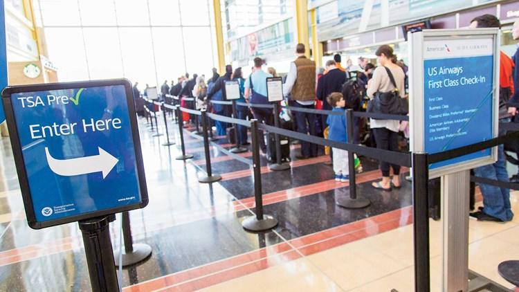 TSA Pre airport line