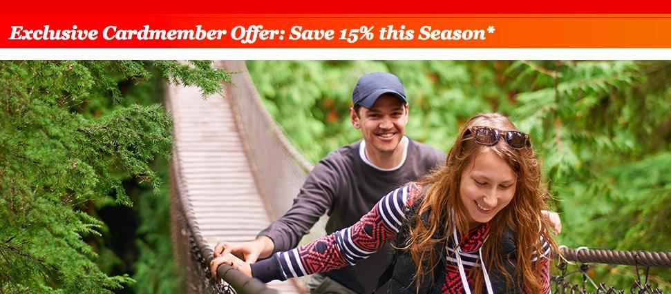 Cardmember 15 Percent Discount Winter 2017