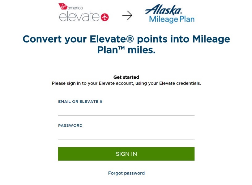 Convert Elevate to Mileage Plan