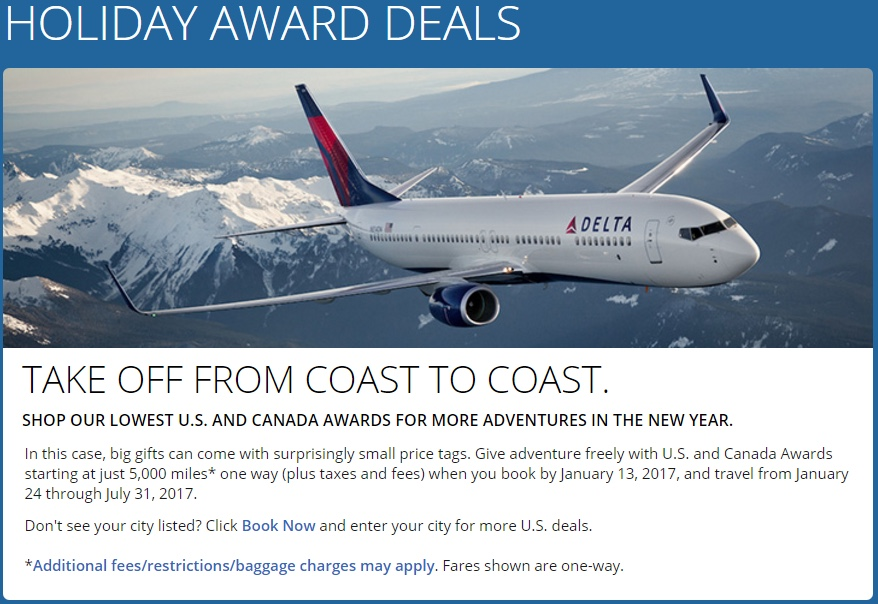 Delta Flash Sale - Holiday Award Deals