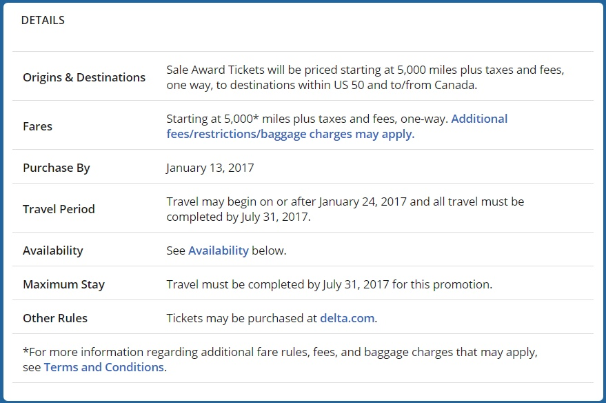 Delta Flash Sale January 13 2017 Details