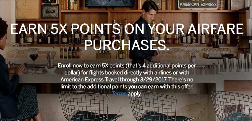 Earn 5x Points on Airfare Business Platinum Amex