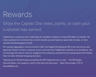 Capital One Dev Exchange & AwardWallet