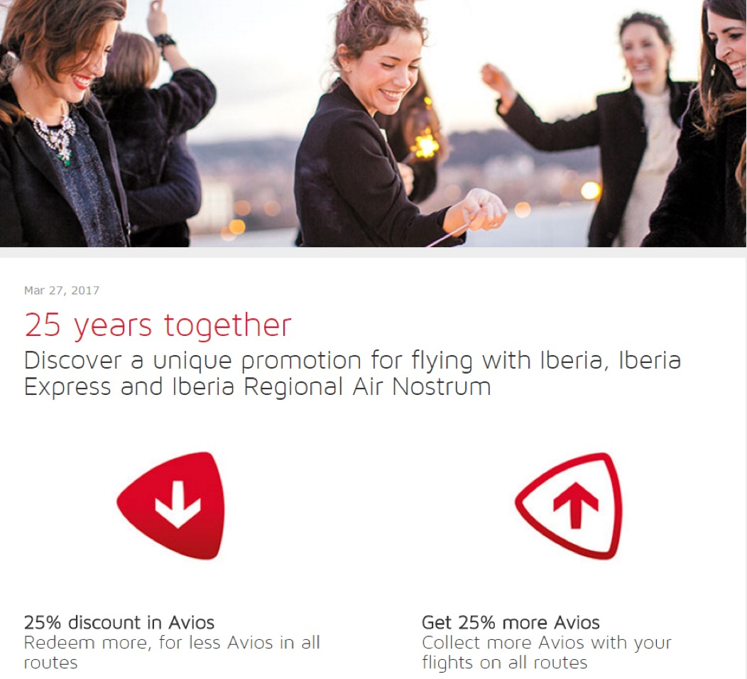 Iberia 25 Year Promotion - 25 years together