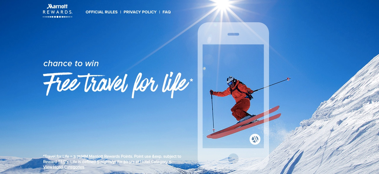 Marriott Rewards Free Travel For Life Promotion