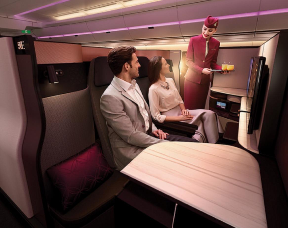 Qatar QSuite Couple