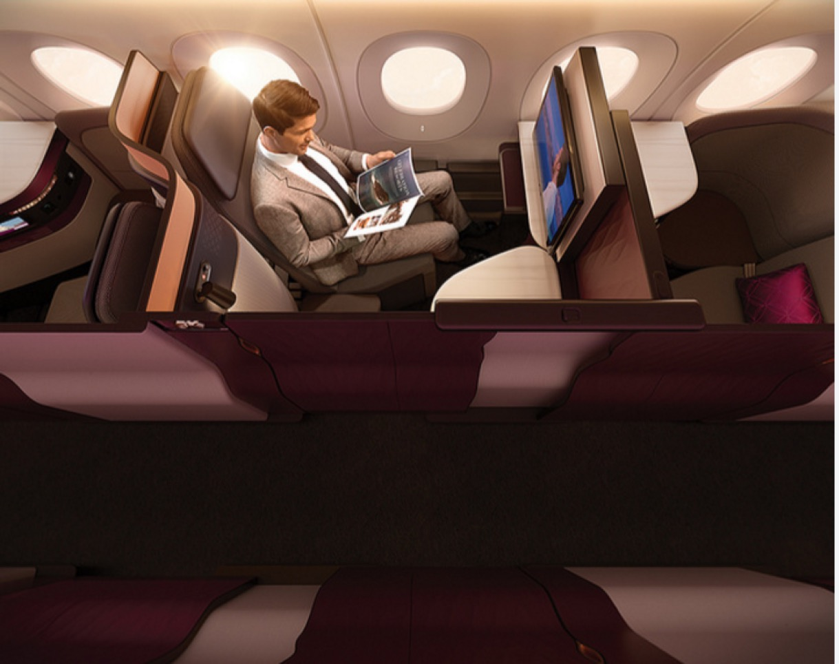 Qatar QSuite Window Seat