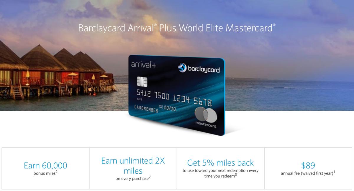 Barclaycard Arrival Plus 60k
