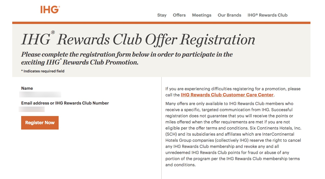 IHG Rewards Spring Bonus 2017 Promotion