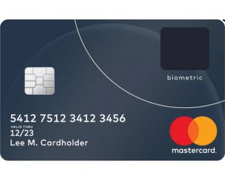 MasterCard with biometric sensor
