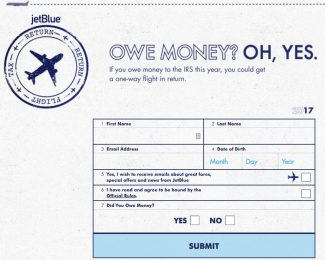 jetBlue Owe Money Oh Yes