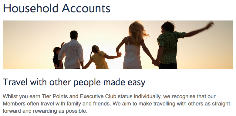 BA Executive Club Household Account