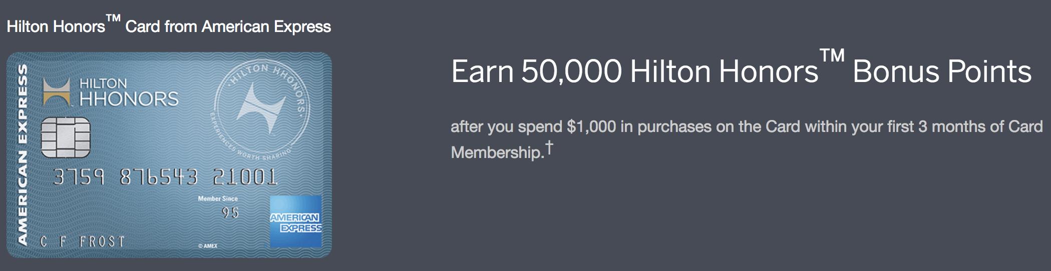 American Express Hilton Honors™ Rewards Credit Card Review