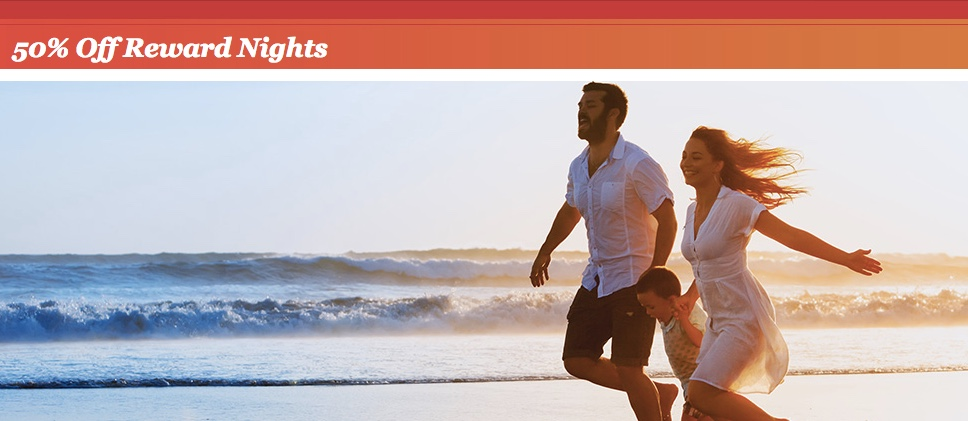 IHG 50% Off Reward Nights