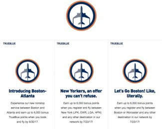 JetBlue TrueBlue Summer 2017 Promotions