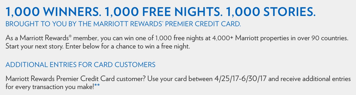 Marriott 1000 Nights Promotion