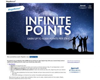 Marriott 2017 Summer Promotion