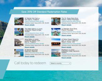 SPG Resort Redemption 2018