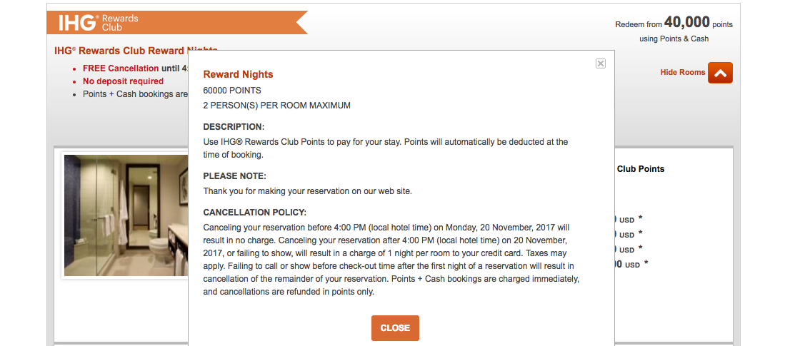 Hotel Free Night Award Change and Cancellation Policies