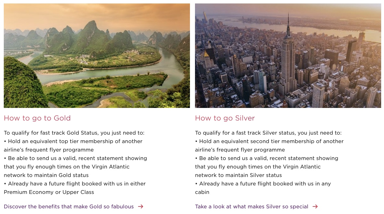 Virgin Atlantic Status Match - Overview