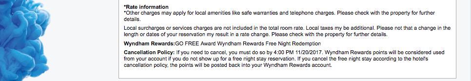 Wyndham-Rewards-free-night-cancellation-policy