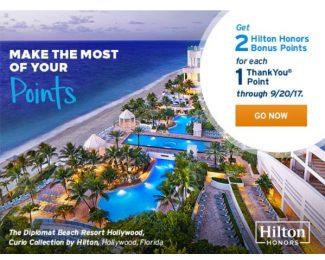 Citi Points Transfer Bonus to Hilton