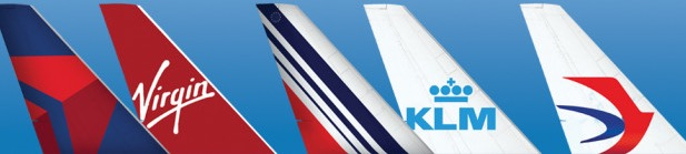 Delta Virgin Air France KLM China Eastern Plane Tails