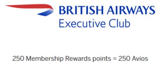 Transfer Membership Rewards to Avios 1 to 1
