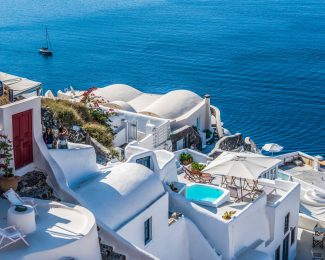 Destinations like Santorini often lack chain hotels that allow you to redeem points for free nights